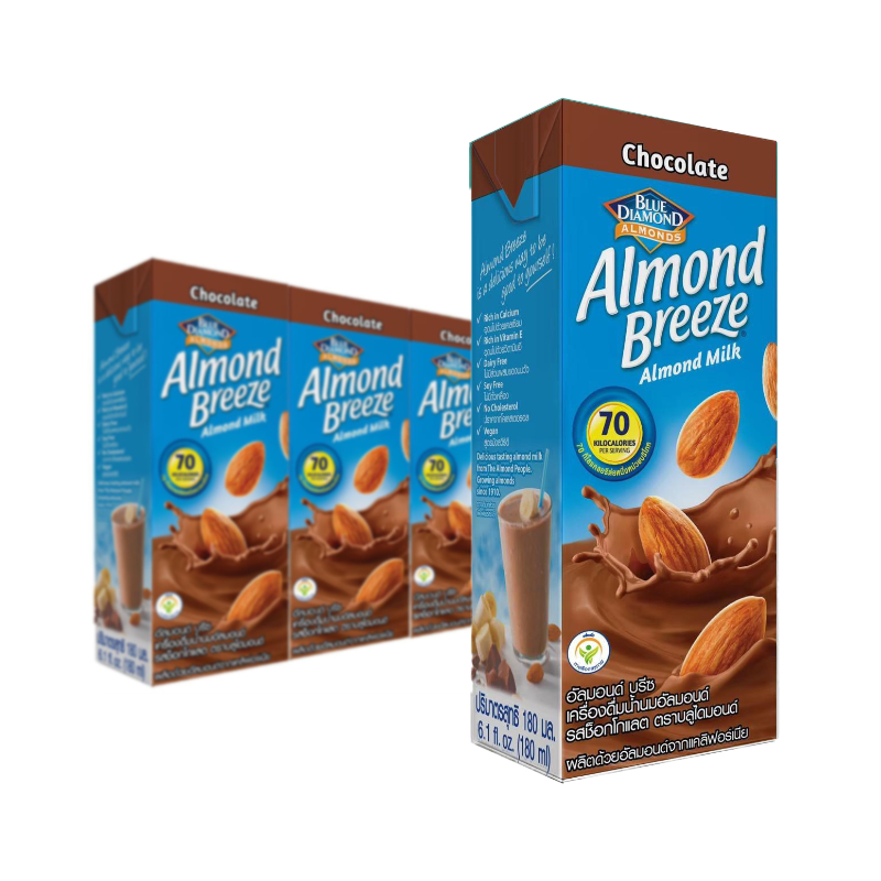 Blue Diamond Chocolate Almond Milk 180ml x 3 Packs