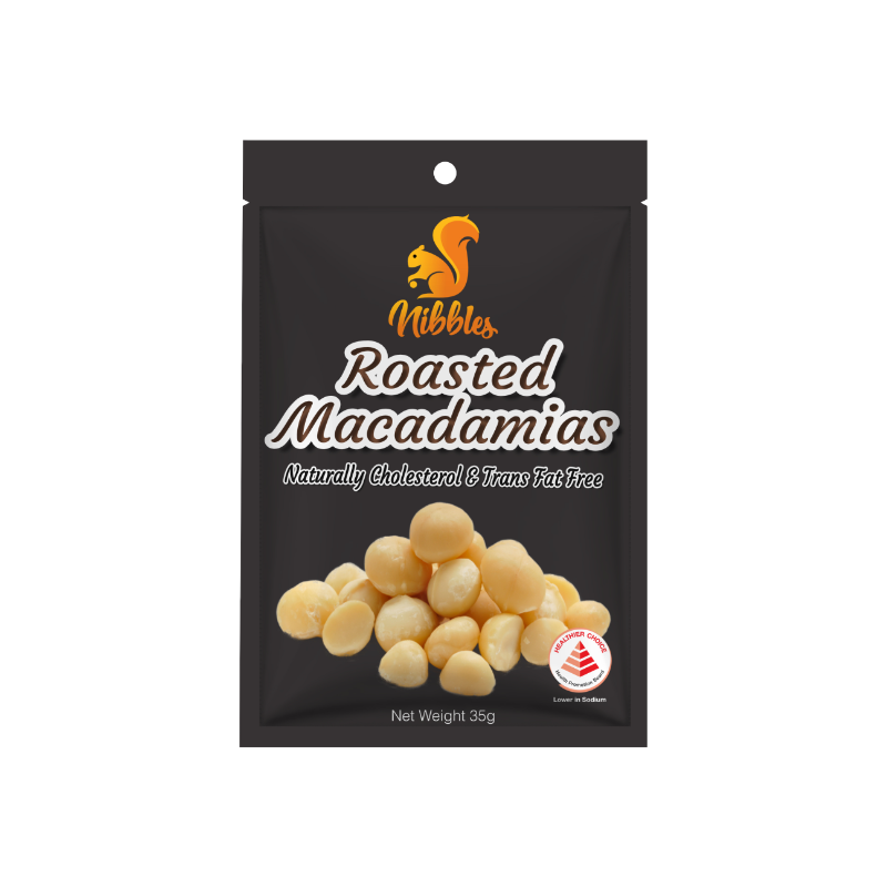 Nibbles Premium Roasted Macadamia Nuts 35g