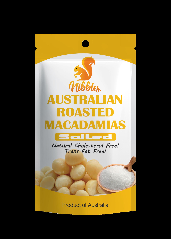 Nibbles Australian Macadamia Nuts 60g x 3 Packs