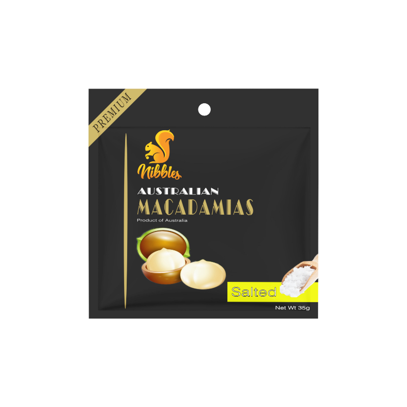 Nibbles Premium Australian Salted Macadamia Nuts 35g